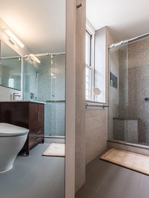Modern bathroom design ideas renovations photos with for Modern linoleum flooring