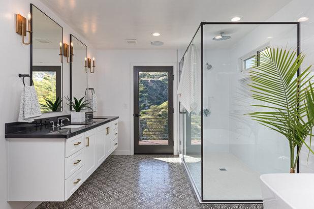Transitional Bathroom by Kitchen Master Design & Remodeling LLC