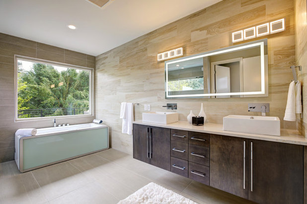 Contemporary Bathroom by Kitchen Master Design & Remodeling LLC