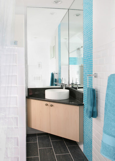 Modern Powder Room by Topnotch Design Studio