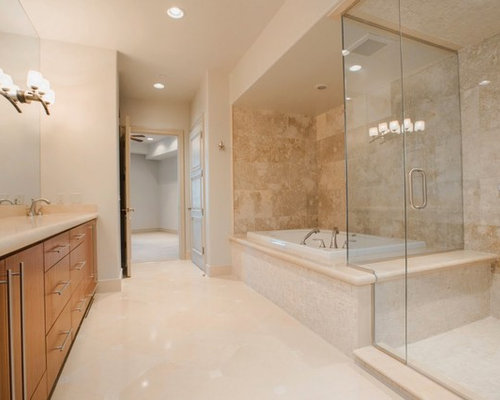 Las vegas bathroom design ideas renovations photos with medium wood cabinets - Bathroom cabinets las vegas ...
