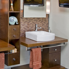 Modern Bathroom by HomeTech Renovations, Inc.