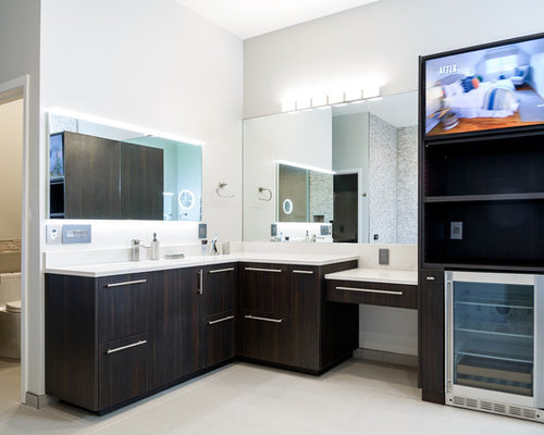 Modern home in norman ok with ultracraft cabinetry for Bathroom remodel norman ok