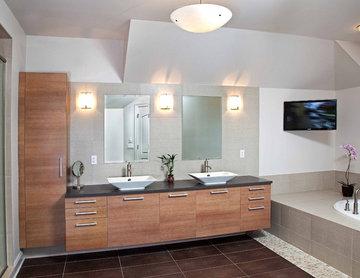 Modern Master Bathroom - Spa Design