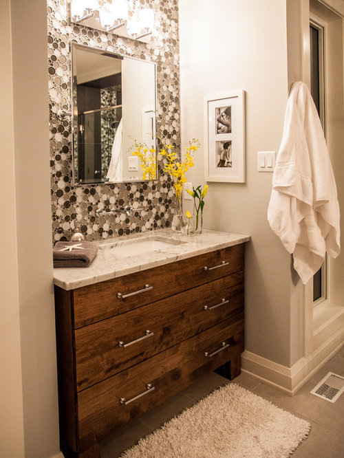 Modern master ensuite with double shower for Modern master ensuites