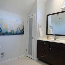 Modern Bathroom by NVS Remodeling & Design