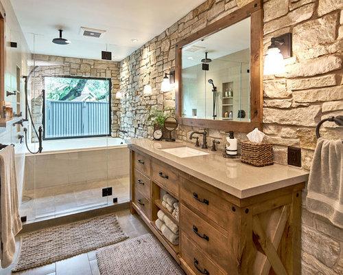 saveemail - Rustic Bathroom Design