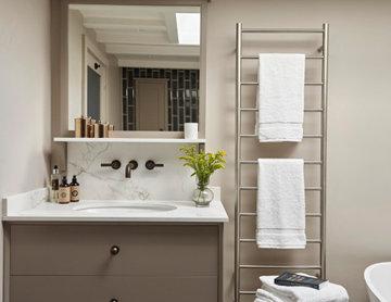 Modern Monochrome Bathroom by The Secret Drawer