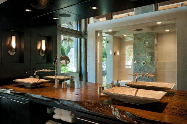Rustic Bathroom by Dianne Davant and Associates