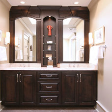 Modern Bathroom by Walker Woodworking