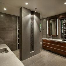 Contemporary Bathroom by IMI Design, LLC