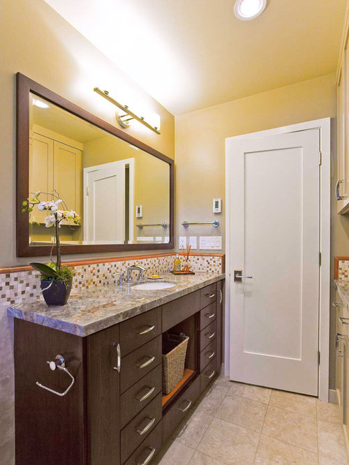 Espresso vanity houzz for Espresso bathroom ideas