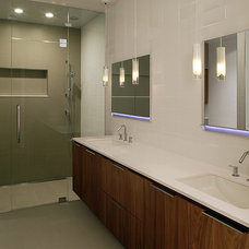Modern Bathroom by Donatelli Builders, Inc