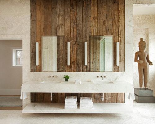 Rustikale badezimmer mit marmor waschtisch ideen - Rustikale badezimmer ...