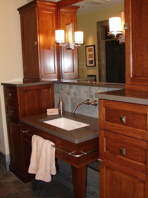 Arts and crafts bathroom design ideas renovations for Craftsman style bathroom design ideas