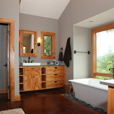 Rustic Bathroom by Will Steed Homes, Inc.