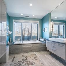 Modern Bathroom by Sanctuary Kitchen and Bath Design