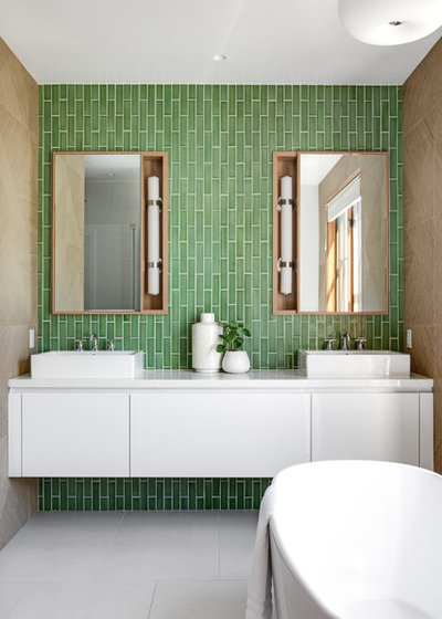 Contemporary Bathroom by Chelsea Lauren Interiors
