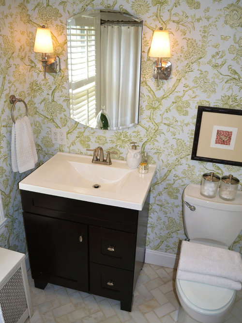 Small shabby chic style bathroom design ideas renovations for Commode style shabby chic