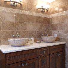 Modern Bathroom by StoneMar Natural Stone Company LLC