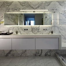 Contemporary Bathroom by Studio Becker- Bespoke Cabinetry and Millwork