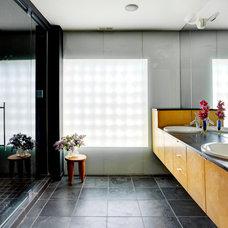 Contemporary Bathroom by Leslie Glazier @ Properties