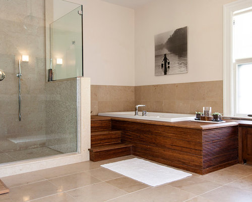 Modern bathroom shower tile - Spa Like Bathroom Houzz