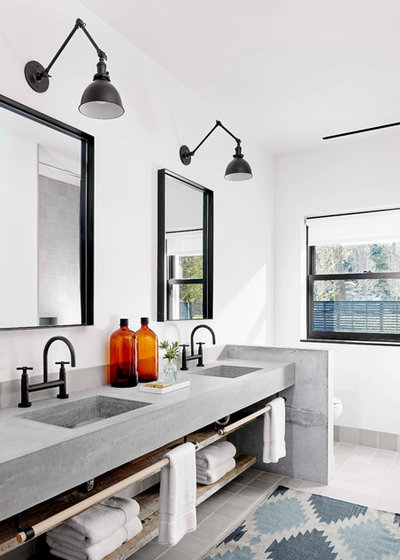 Industrial Bathroom by aamodt / plumb architects