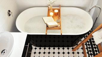 Modern Traditional Bathroom Monochrome Charm