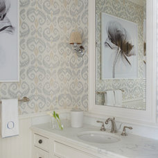Beach Style Bathroom by S. B. Long Interiors