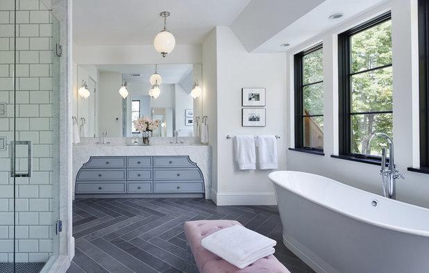 Transitional Bathroom by Charlie & Co. Design, Ltd