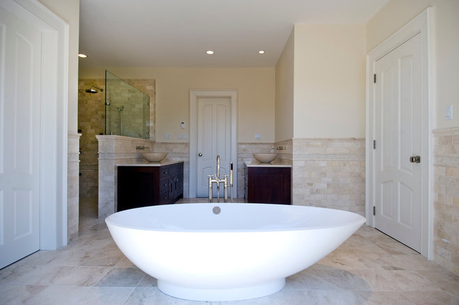 Traditional Bathroom by Perello Building Corporation