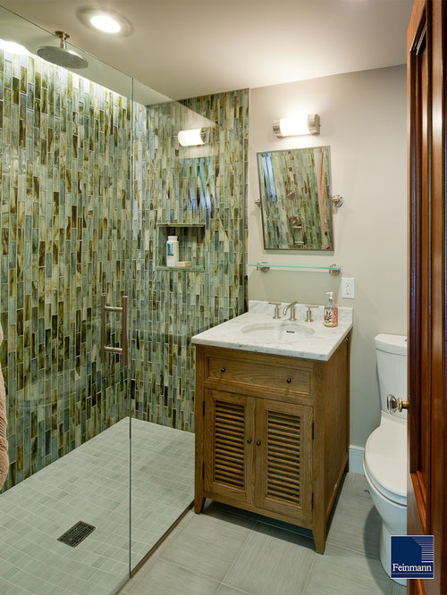 Small Tile Shower Cool Small Tile Shower  Houzz Design Decoration