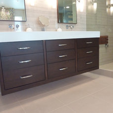 Modern Bathroom by Bear River Cabinetry