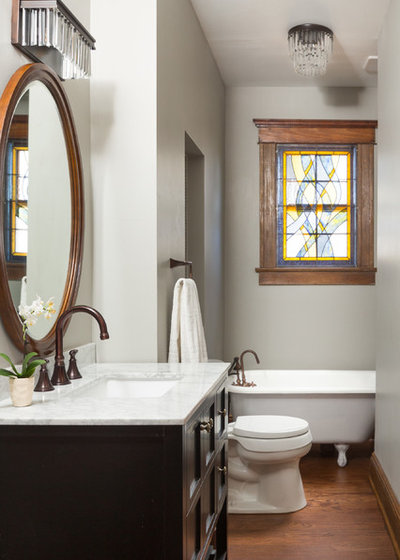 Transitional Bathroom by David Cannon Photography