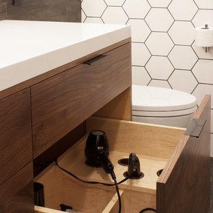 Imagen de cuarto de baño minimalista pequeño