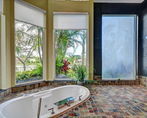 kolonialstil badezimmer mit schieferboden ideen design. Black Bedroom Furniture Sets. Home Design Ideas