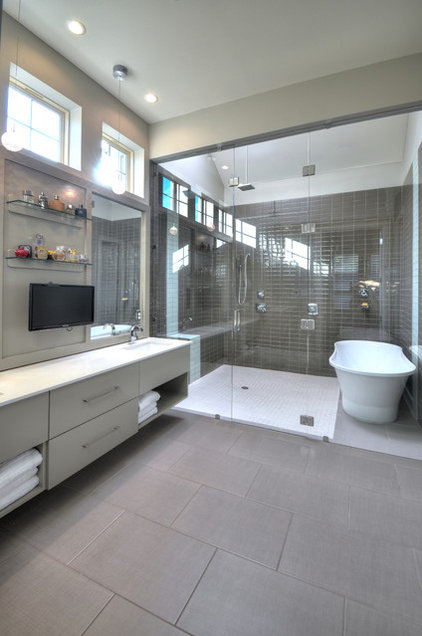 Contemporary Bathroom by Windmiller Homes, LLC