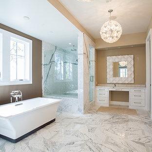 Modern White Bathroom and Shower