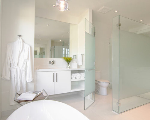 Frosted Glass Toilet Partition Houzz