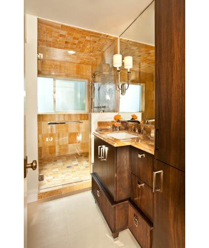 Modern Bathroom by Kristin Rocke