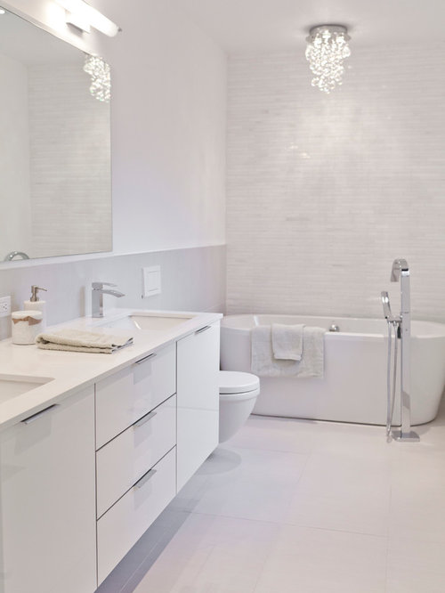 All white bathroom ideas pictures remodel and decor for All white bathroom designs