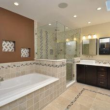 Transitional Bathroom by Big Sky Custom Homes