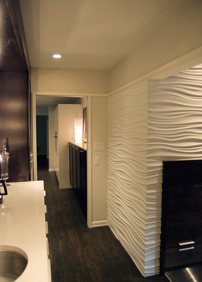 Modern Bathroom by Wrightworks  LLC. Textured Walls  Inspiration Beyond Paint and Wallpaper