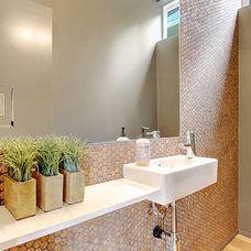 Eclectic Bathroom by Modwalls