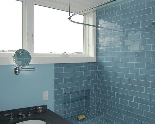 Ocean glass subway tile
