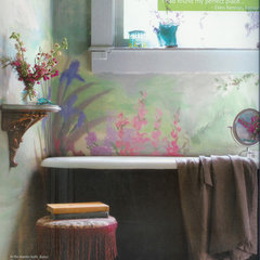 tropical bathroom by Ellen Kennon