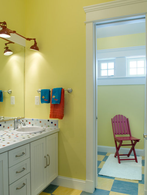 Red And Yellow Bath Design Ideas Pictures Remodel Decor