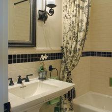 Traditional Bathroom by Tina Barclay