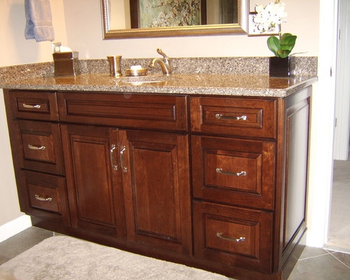 Montclair Cherry in Chocolate Glaze - Vanity Cabinetry By Kraftmaid